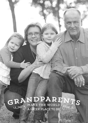Grandparents Overlay 5x7 Folded Card