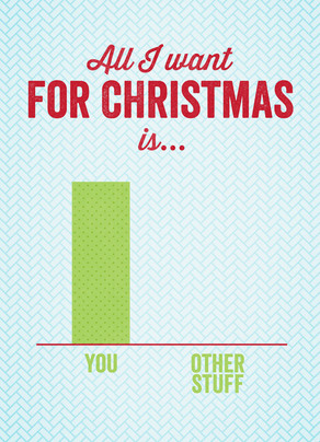 Christmas Bar Chart 5x7 Folded Card
