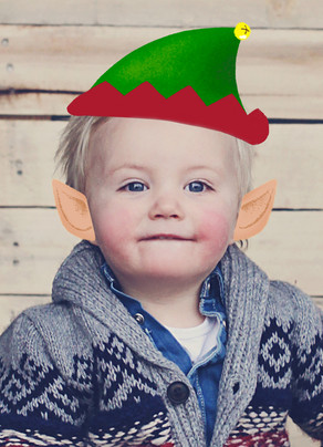 elf hat ears photo overlay christmas card cardstore