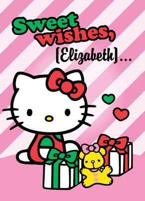 Hello Kitty Sweet Wishes 5x7 Folded Card