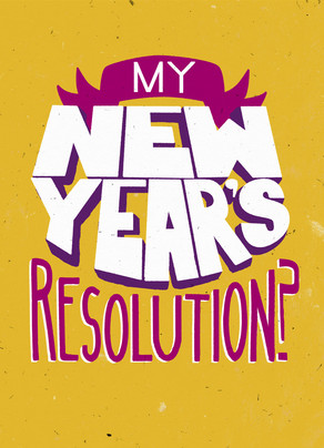 Awesome New Year's Resolution 5x7 Folded Card