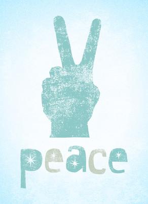 Peace at the Holidays 5x7 Folded Card