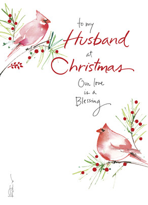 Husband Christmas Cards.Christmas Cardinals Husband