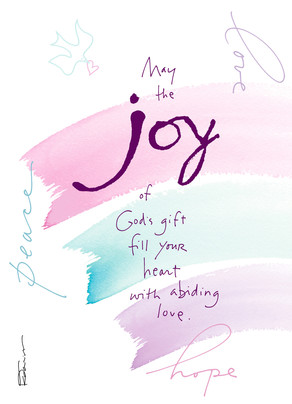Paint Strokes - joy of God's gift 5x7 Folded Card
