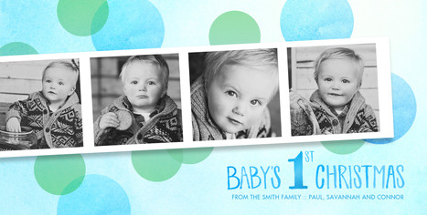 Baby Boy's 1st Christmas 8x4 Flat Card