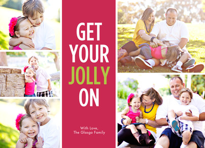 Get Your Jolly On 7x5 Flat Card