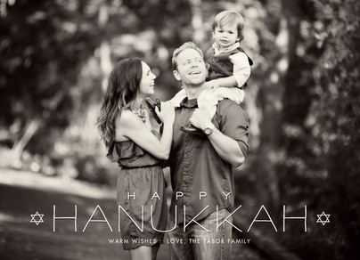 happy hanukkah photo overlay 7x5 Flat Card