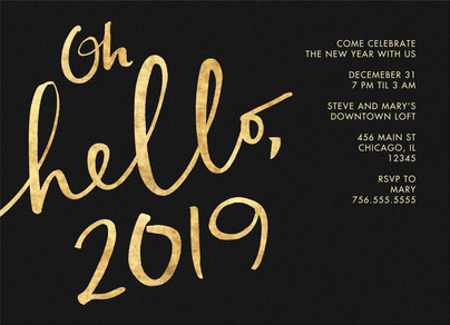 Golden Hello 2016 7x5 Flat Card