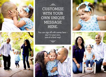 Your Message on Chalkboard 7x5 Flat Card