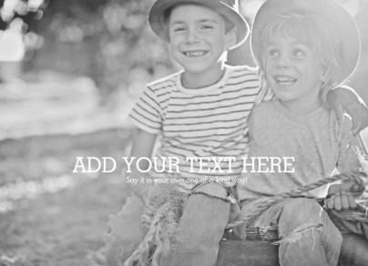 Short Message Center Horizontal Photo Overlay 7x5 Flat Card