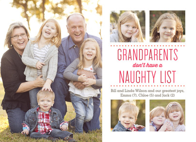 Grandparents don't have a naughty list 7x5 Flat Card