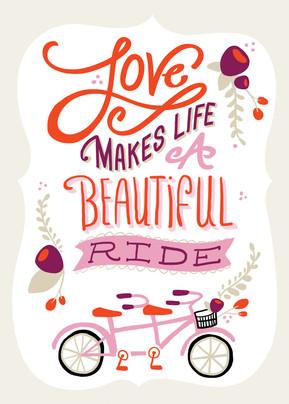 A Beautiful Ride 5x7 Folded Card