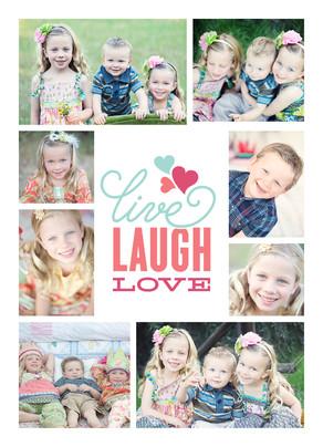Live Laugh Love - 8 Photos 5x7 Folded Card
