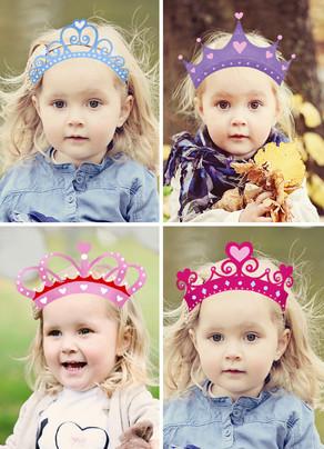 School Valentine with Princess Crowns 5x7 Flat Card