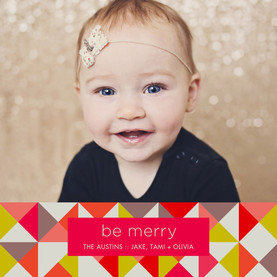 Be Merry Geometric Pattern 4.75x4.75 Flat