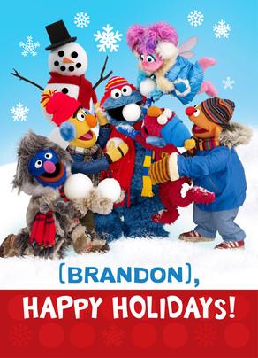 Sesame Street Snowman Scene Christmas