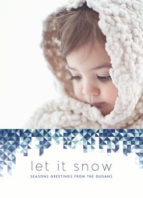 Let it Snow Geometric Pattern 5x7 Flat Card