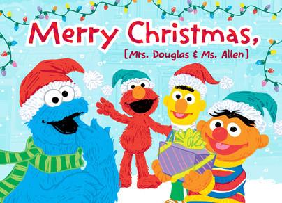 Cookie Elmo Bert  Ernie Christmas Christmas Card  Cardstore