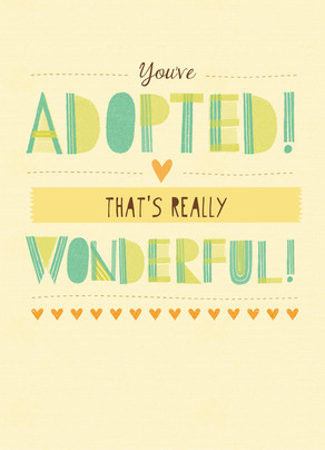 You've Adopted! 5x7 Folded Card