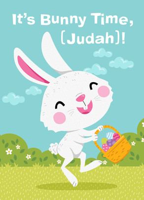 Hippity Hoppity Bunny 5x7 Folded Card