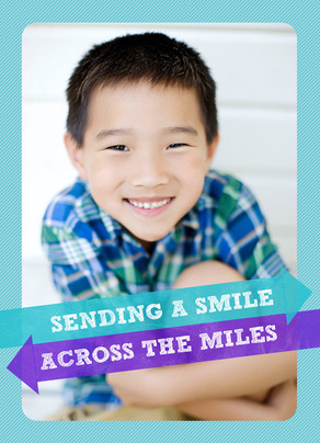 A Smile Across the Miles 5x7 Folded Card