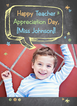 Teacher Appreciation Day with Photo 5x7 Folded Card