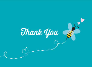 Mom-to-bee Thank You 5.25x3.75 Folded Card