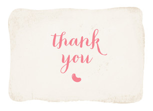 Belly Bean Thank You - Pink 5.25x3.75 Folded Card