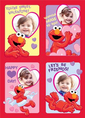 Elmo School Valentines 5x7 Flat Card