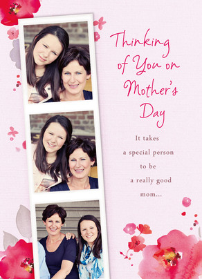 Mother's Day Photo Strip 5x7 Folded Card