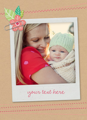 Mother's Day Instant Photo 5x7 Folded Card