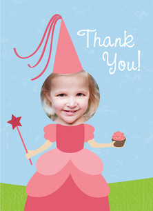 Princess Thank You 3.75x5.25 Folded Card