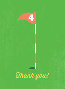 Golf Thank You 3.75x5.25 Folded Card