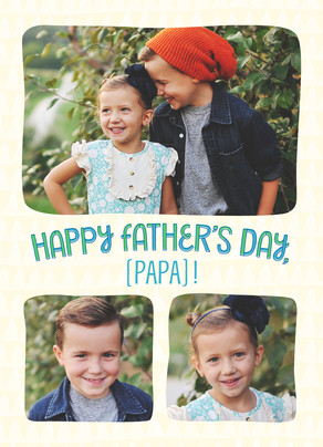 Fun Father's Day Lettering 5x7 Folded Card