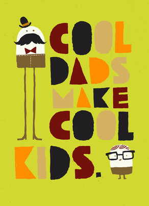 Cool Dads 5x7 Folded Card