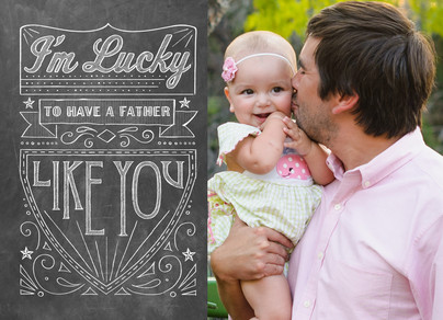 Father's Day Chalkboard Design 7x5 Folded Card