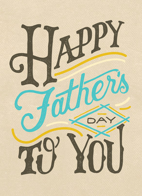 Classic Father's Day Lettering 5x7 Folded Card