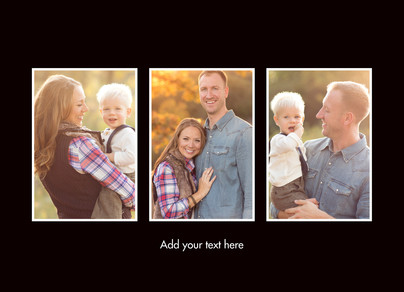 Color Frame - 3 Photos Horizontal 7x5 Folded Card