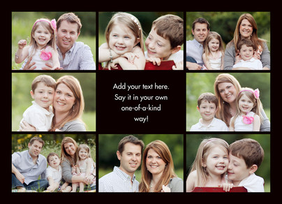 Color Frame - Border with Center Text Horizontal 7x5 Folded Card