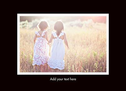 Color Frame - Postcard 1 Photo 7x5 Postcard