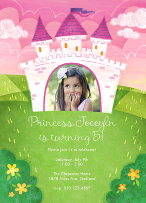 Royal Princess Party Invitation 5x7 Flat Card