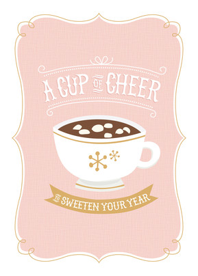 A Cup of Cheer 5x7 Folded Card