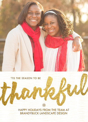 Thankful Holiday Season 5x7 Flat Card