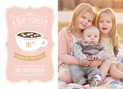 A Cup of Cheer - Photo 7x5 Flat Card