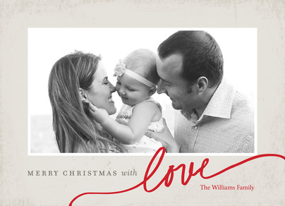 Christmas with Love 7x5 Flat Card