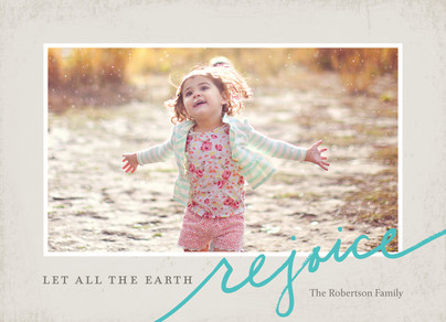 All the Earth Rejoice 7x5 Flat Card