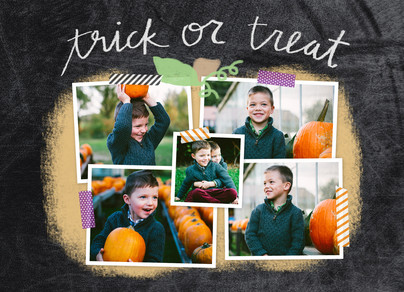 Halloween Photo Collage 7x5 Folded Card