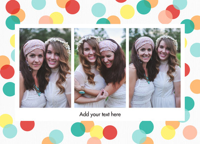Three Photos Horizontal Frame 7x5 Folded Card