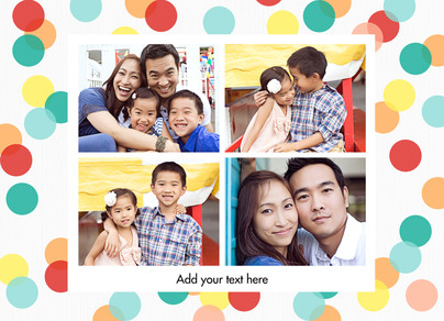 Four Photos Horizontal Frame 7x5 Folded Card
