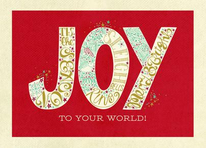 Lettering Joy 7x5 Postcard
